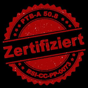 PTB-A 50.8 Zertifiziert
