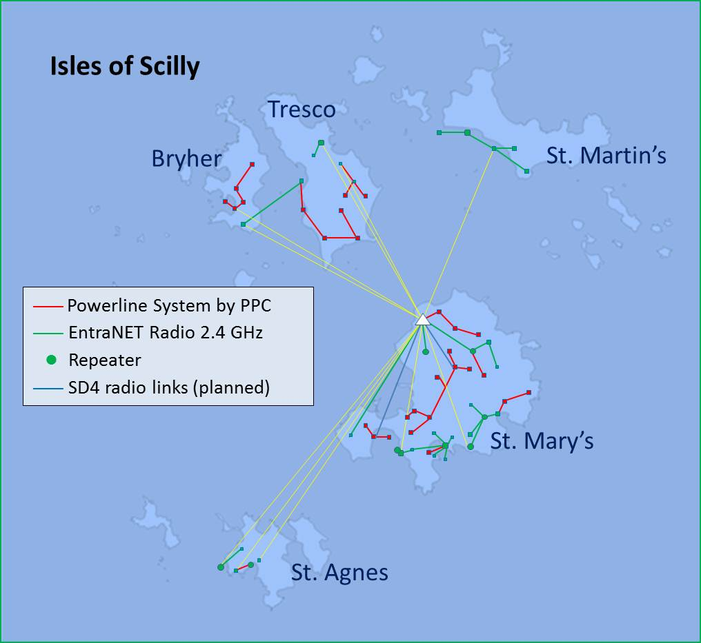 Isles of Scilly Grid Map