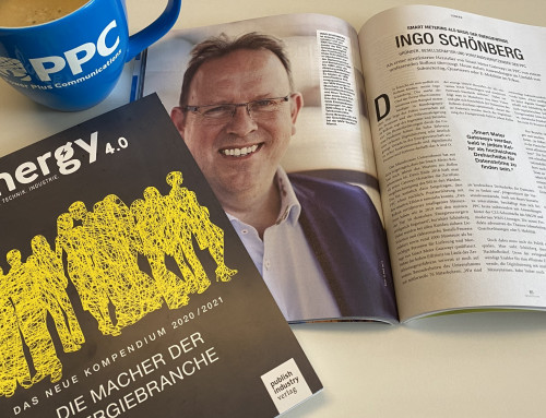 Ingo Schönberg as one of the 50 makers of the energy industry